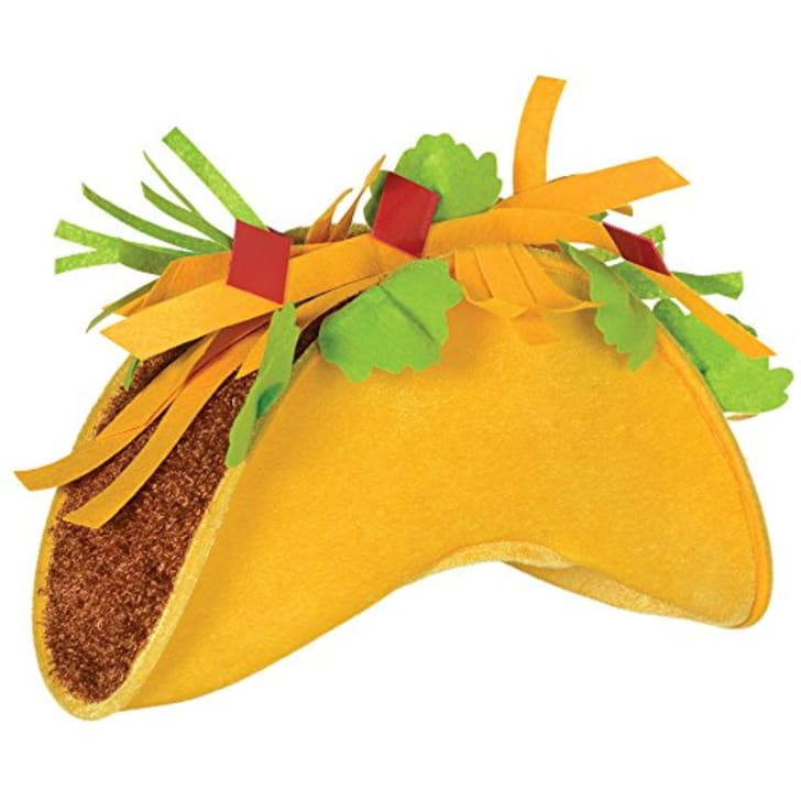 A hat that looks like a taco.