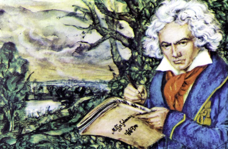 An illustration of Beethoven
