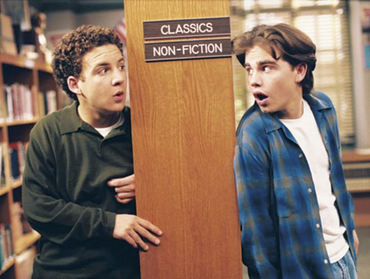 Ben Savage and Rider Strong in 'Boy Meets World'