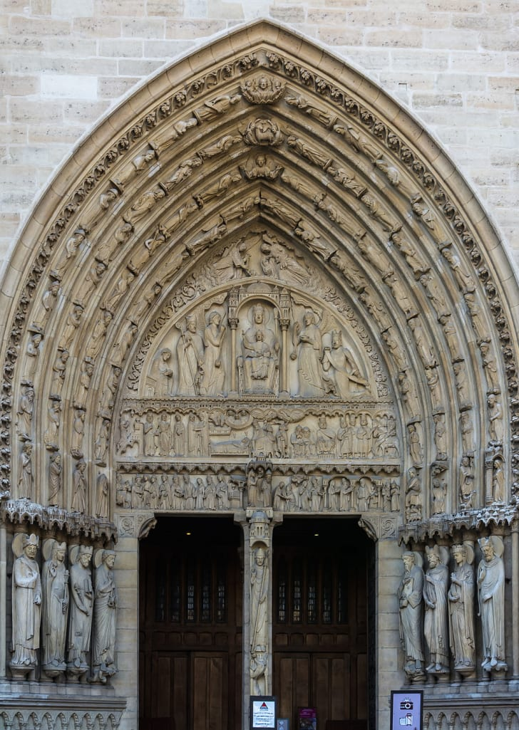 The Sainte-Anne Portal at Notre-Dame