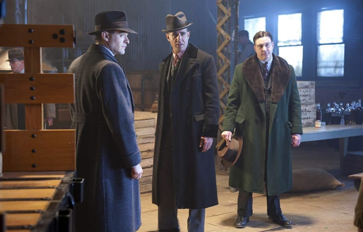 Chris Caldovino, Bobby Cannavale, and Charlie Cox in 'Boardwalk Empire'