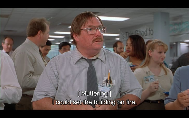 A still from 'Office Space' (1999)