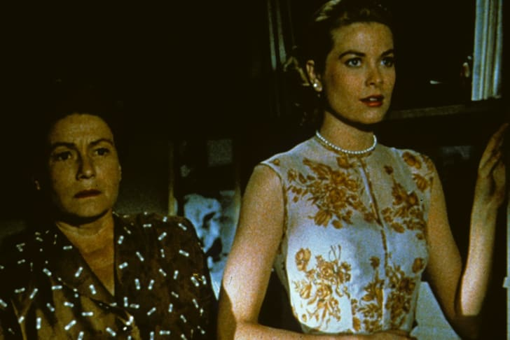 Grace Kelly and Thelma Ritter in 'Rear Window' (1954)