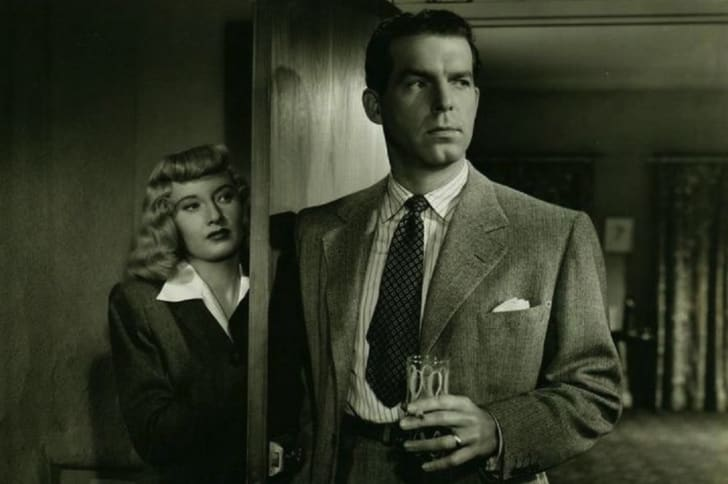 Barbara Stanwyck and Fred MacMurray in 'Double Indemnity' (1944)
