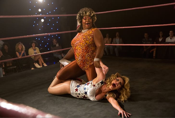 Kia Stevens and Betty Gilpin in 'GLOW'