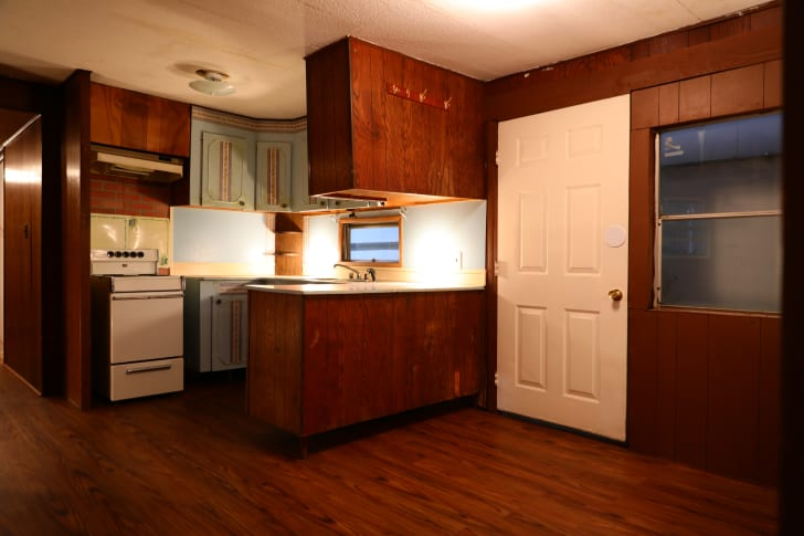 Inside the mobile home