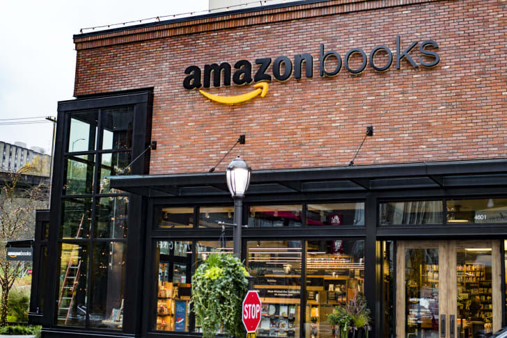 A brick-and-mortar Amazon bookstore in Seattle