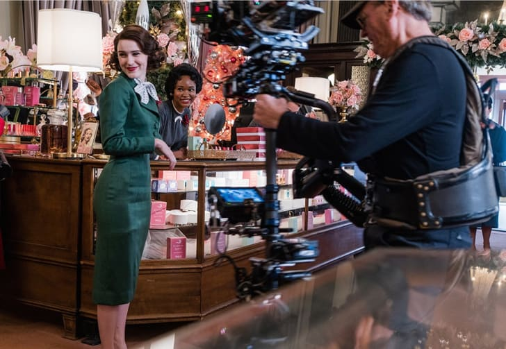 Rachel Brosnahan and Wakeema Hollis in 'The Marvelous Mrs. Maisel'
