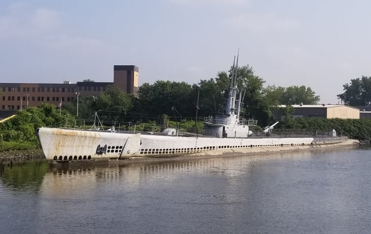 The USS Ling submarine in Hackensack, New Jersey