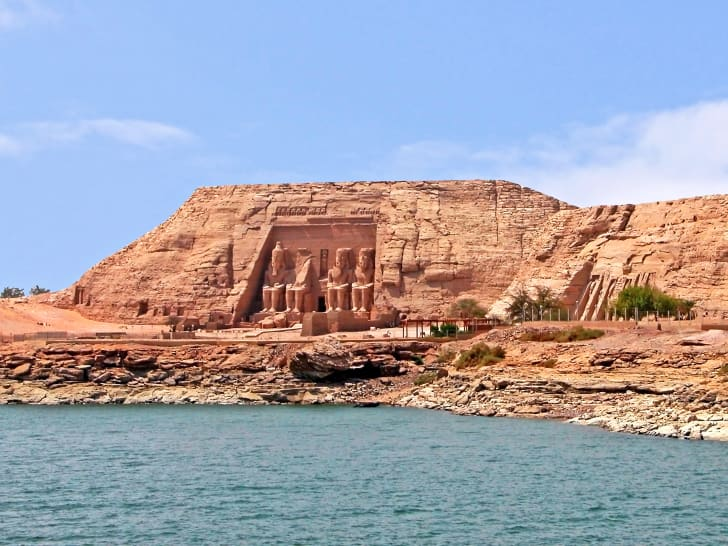 Abu Simbel temples and the Nile River, Egypt