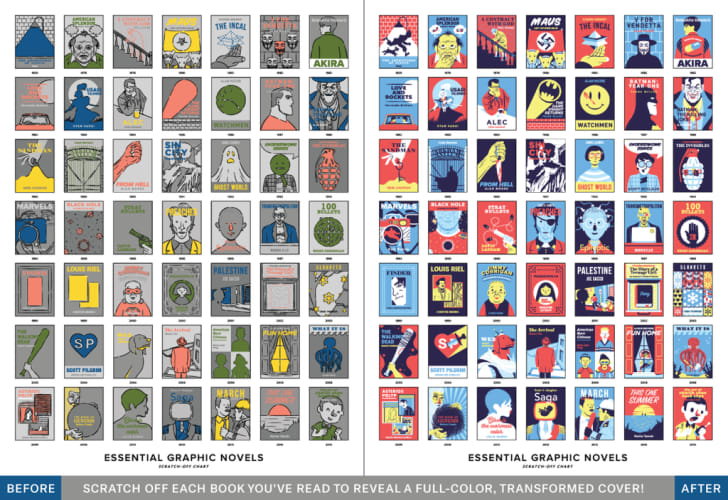 Pop Chart Lab's Essential Graphic Novels Scratch-Off Chart