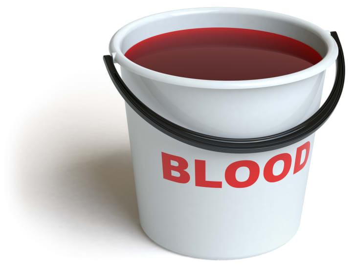A bucket of blood