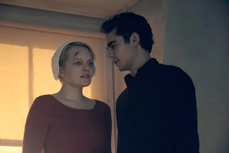 Elisabeth Moss and Max Minghella in 'The Handmaid's Tale'