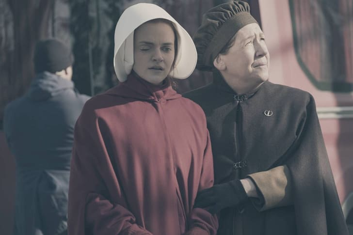 Ann Dowd and Madeline Brewer in 'The Handmaid's Tale'