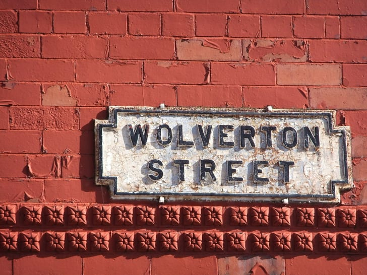 A sign for Wolverton Street in Liverpool