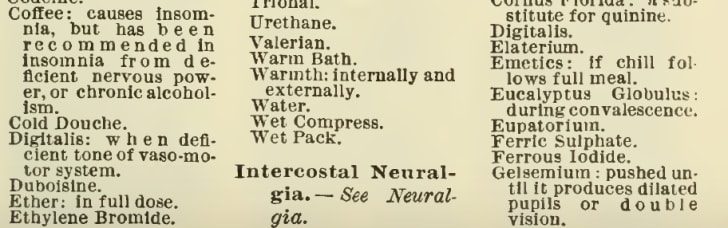 A page from the Merck Manual about insomnia