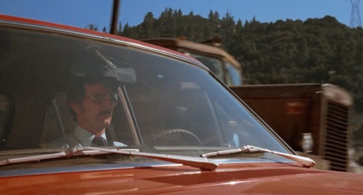 Carey Loftin and Dennis Weaver in 'Duel' (1971)
