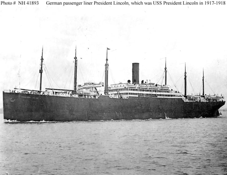U.S.S. President Lincoln, WWI