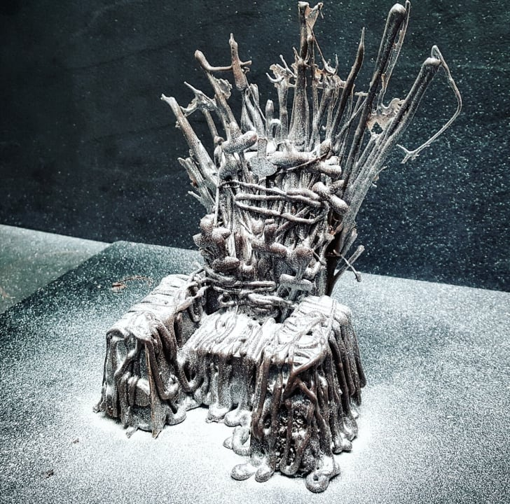 Cake shaped like the Iron Throne from Game of Thrones