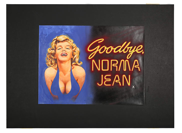 A poster of Goodbye Norma Jean