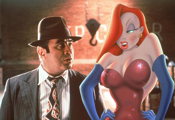 Kathleen Turner and Bob Hoskins in 'Who Framed Roger Rabbit' (1988)