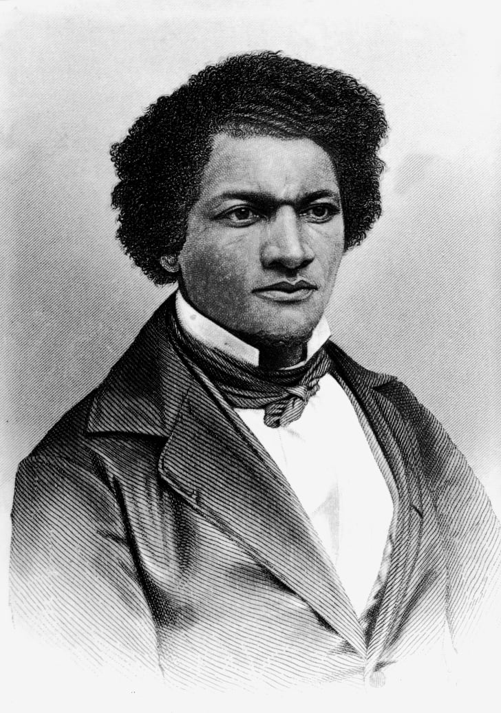 Engraving of Frederick Douglass, circa the 1850s.
