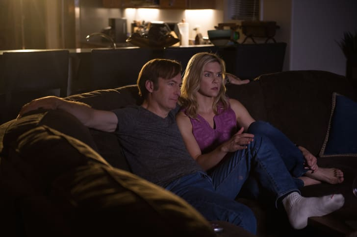 Bob Odenkirk and Rhea Seehorn in 'Better Call Saul'