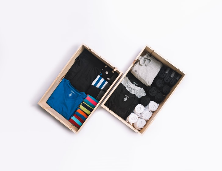 Basic Outfitters clothing in drawers