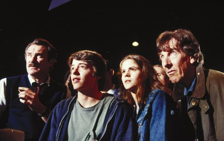 Matthew Broderick, Ally Sheedy, Dabney Coleman, and John Wood in WarGames (1983)