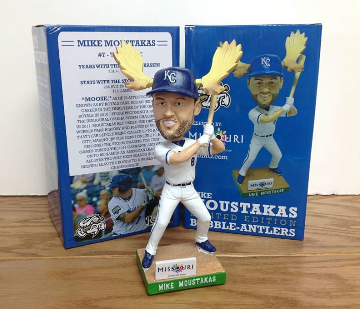 A bobblehead of a Major League Baseball player