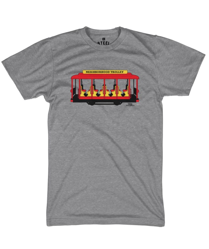 A tee with a trolley on it