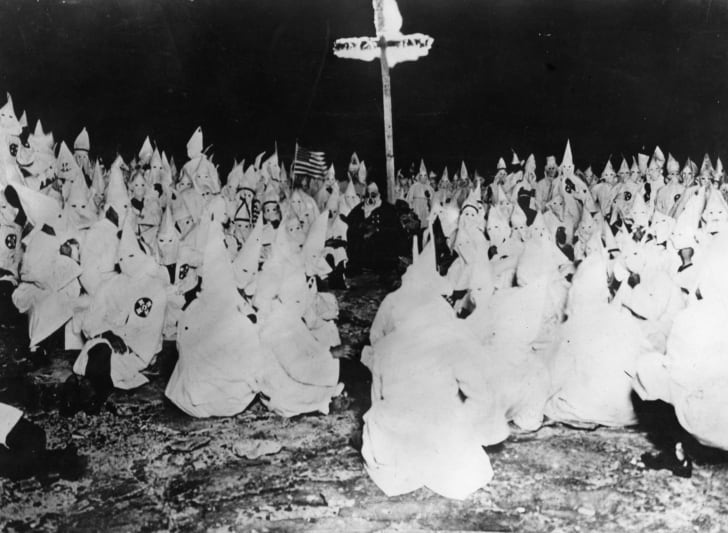 A midnight meeting of the American white supremicist movement, the Ku Klux Klan