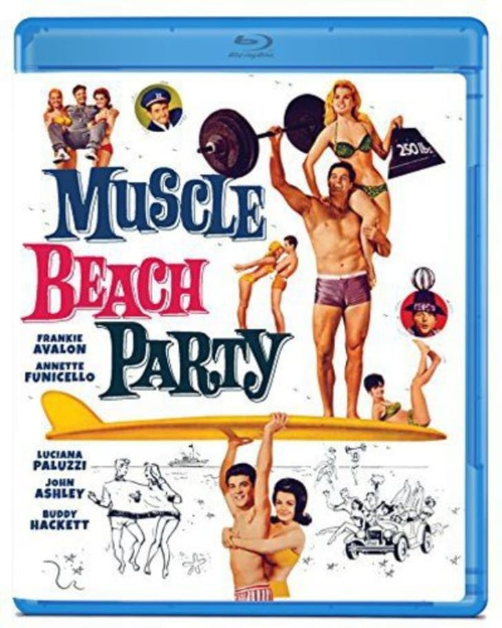 Blueray cover of Muscle Beach Party