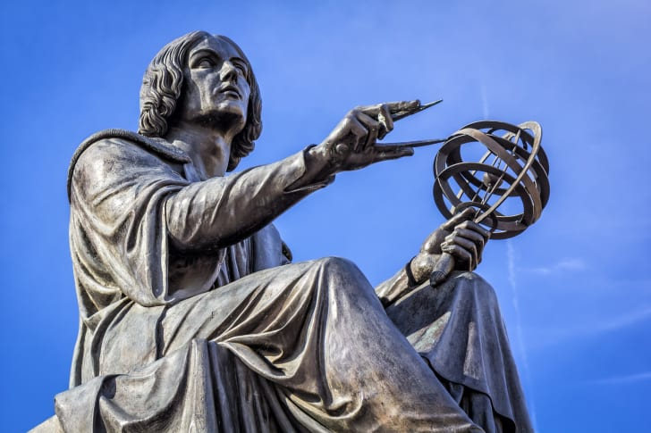 The Nicolaus Copernicus Monument in Warsaw, Poland.