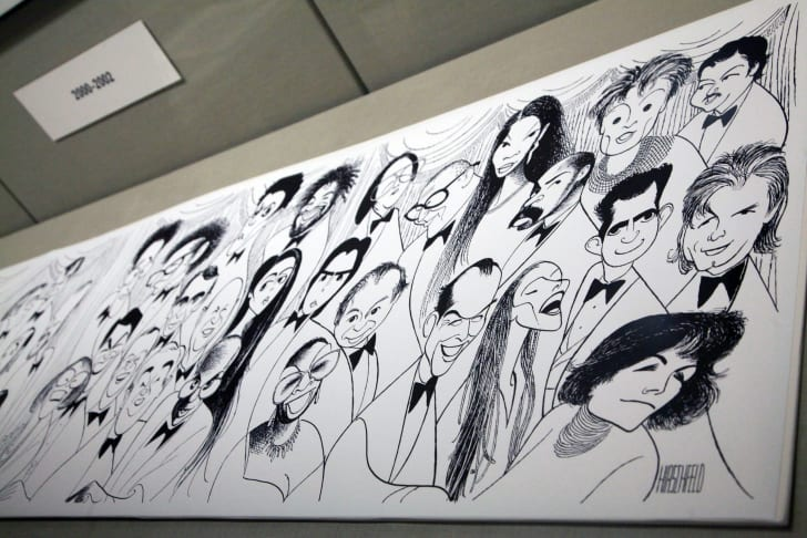 Artwork by Al Hirschfeld on display at The New York Botanical Garden in 2011