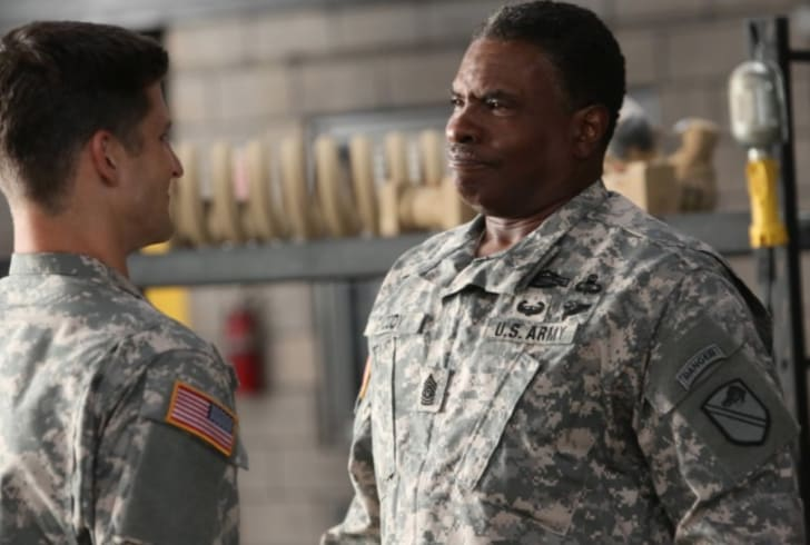 Keith David and Parker Young in 'Enlisted'