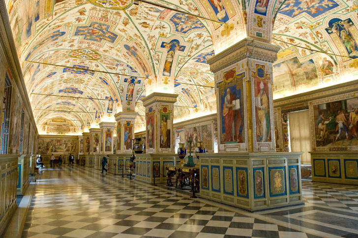 The Sistine Hall, once part of the Vatican Library
