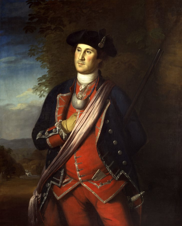 George Washington in uniform during the French and Indian War