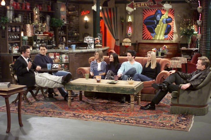 The cast of 'Friends' chats with talk show host Conan O'Brien