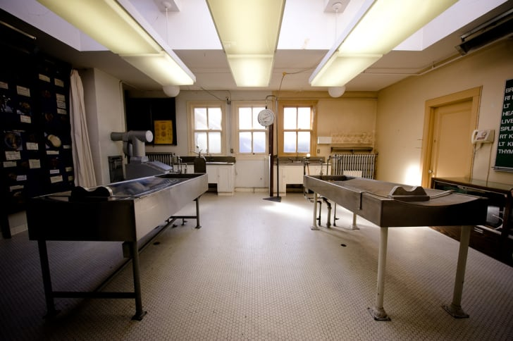 A view of the former morgue at the Vancouver Police Museum