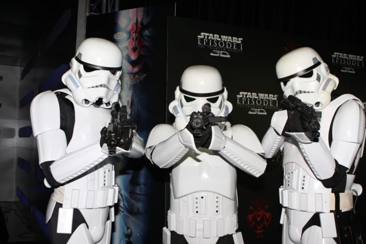 Star Wars fans dressed as Stormtroopers