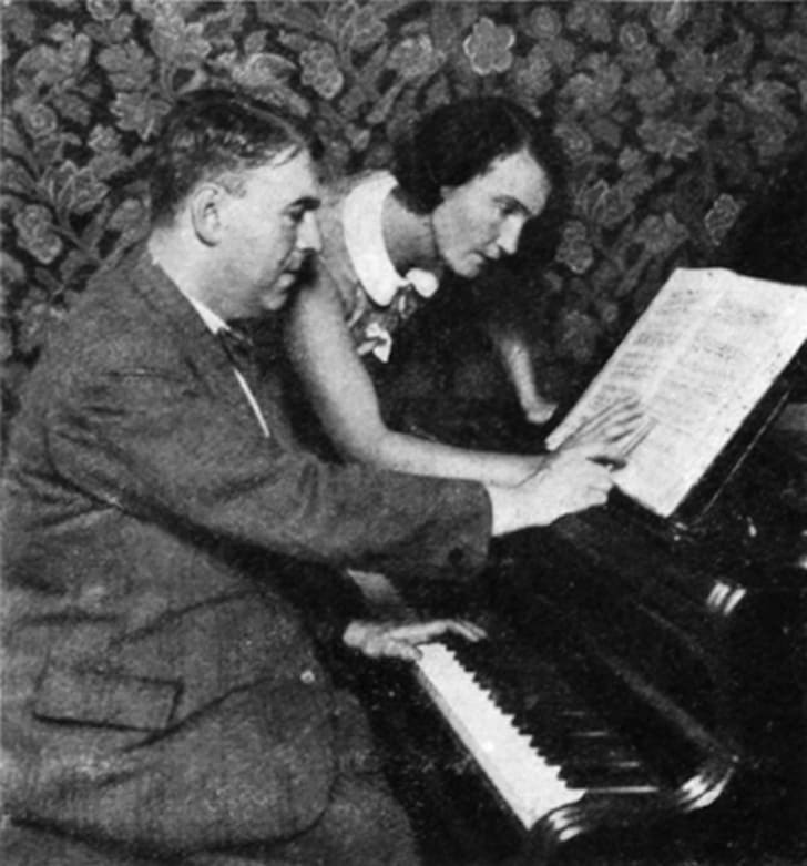 Composer Erwin Schulhoff and dancer Milča Mayerová, ca 1931