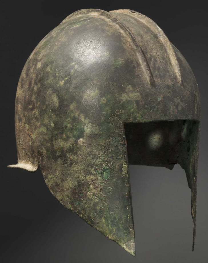 Late Illyrian bronze helmet from 5th to early 4th century BCE.