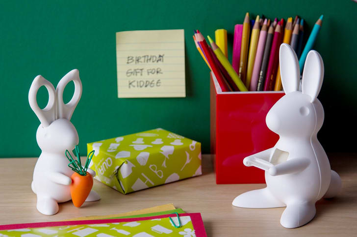 Bunny Scissors and Paper Clip Holders