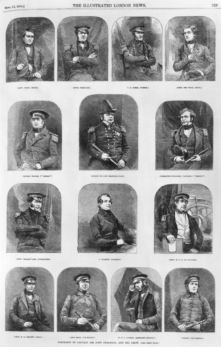 Illustration of members of the Franklin Expedition