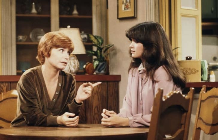 Bonnie Franklin and Valerie Bertinelli in 'One Day at a Time'