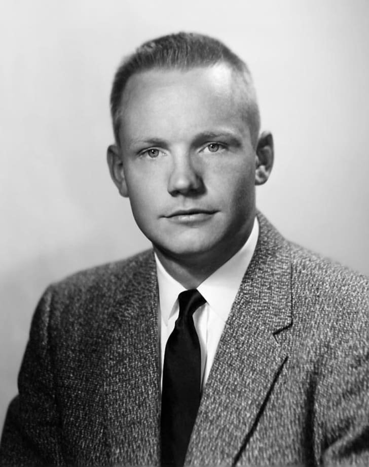 Neil Armstrong poses for a portrait 10 years before the 1969 Apollo mission