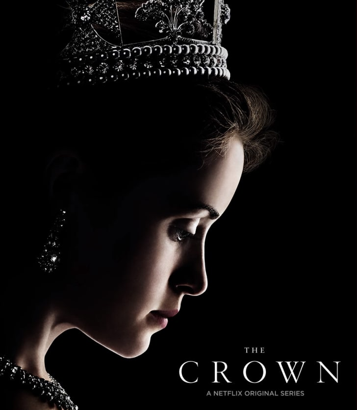 A Screenshot of the title font for The Crown.