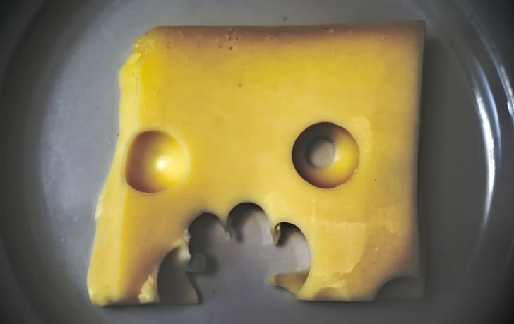cheese that looks like a face