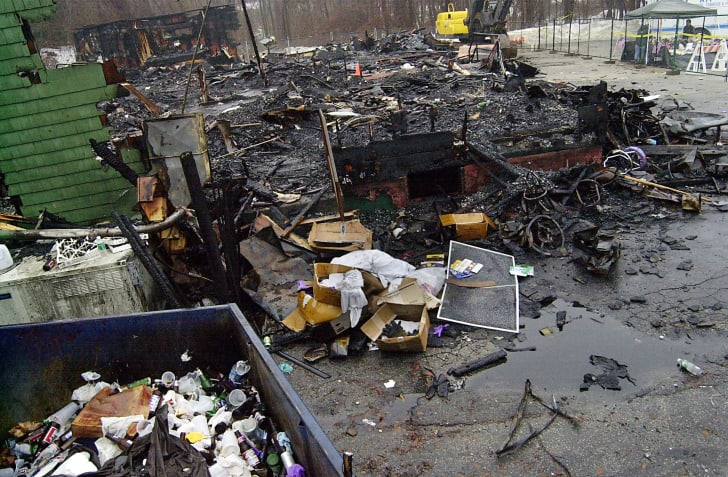 The remnents of the 'The Station Nightclub' after a 2003 fire